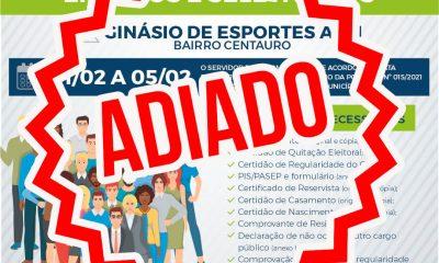 Prefeitura de Eunápolis adia recadastramento dos servidores públicos municipais. 26