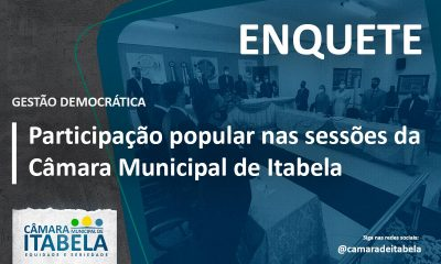 Câmara Municipal de Itabela realiza enquete para ouvir a população sobre horário das sessões e outras informações 93