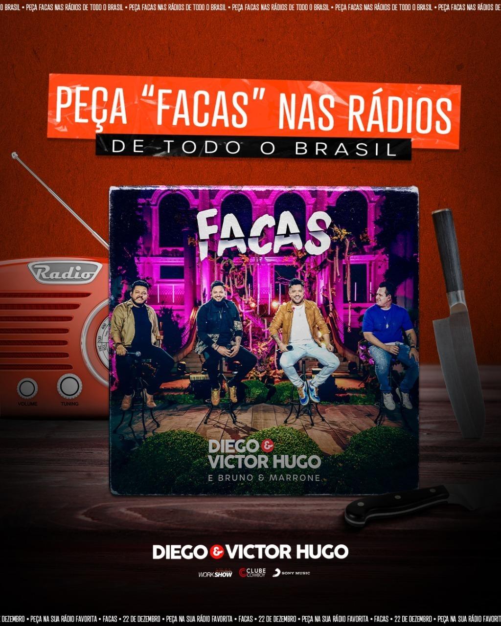 """""""Facas"""" de Diego & Victor Hugo se firma como mais um sucesso da dupla 18"""