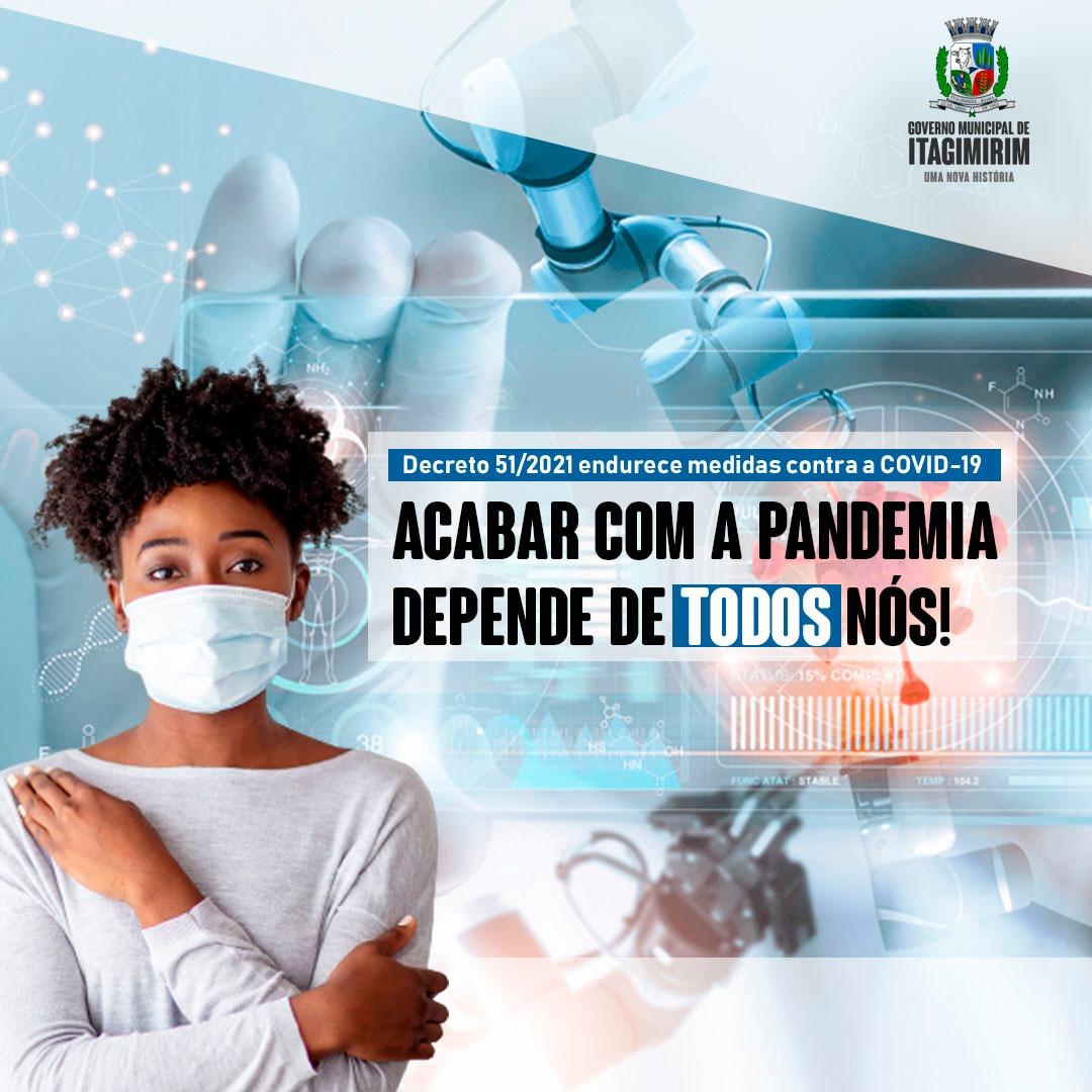 ITAGIMIRIM - ALERTA VERMELHO CONTRA A COVID-19: Governo Municipal aperta medidas de combate a pandemia 26