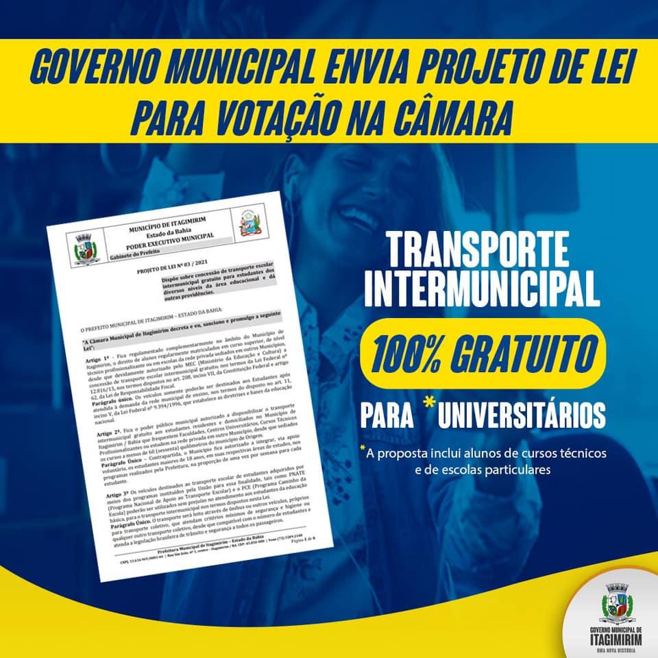 Governo de Itagimirim envia proposta de Lei que propõe gratuidade no transporte escolar intermunicipal. 18