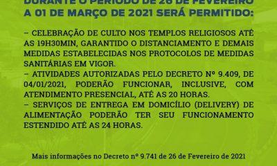 Decreto municipal autoriza abertura do comércio e cultos religiosos nesse fim de semana, em Eunápolis 15