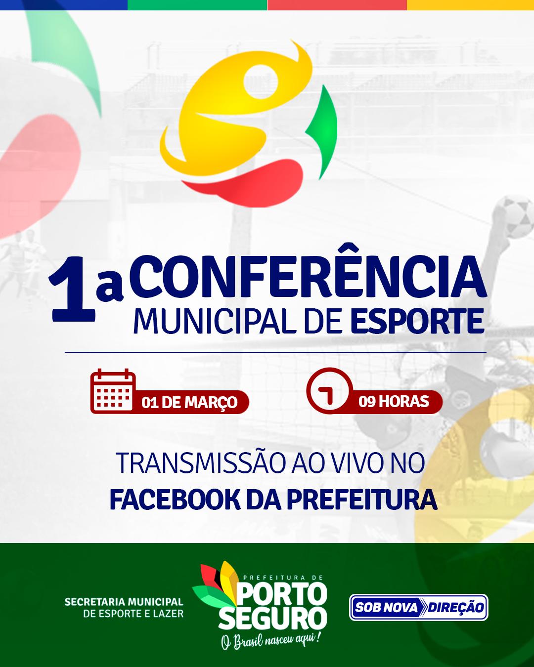 1ª Conferência Municipal de Esporte de Porto Seguro acontecerá nesta segunda (01/03) 18