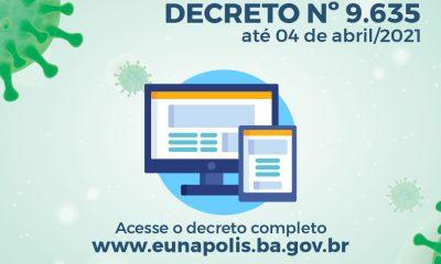 Novo decreto prorroga medidas de prevenção ao coronavírus, em Eunápolis 42