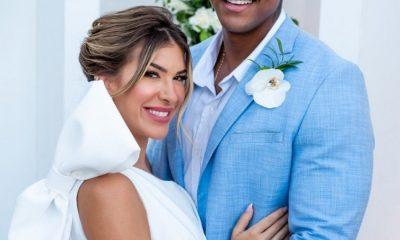 Léo Santana e Lore Improta surpreendem fãs com casamento. 16