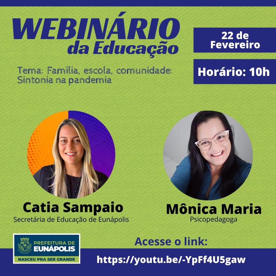 Educação apresenta webinários, em Eunápolis 18