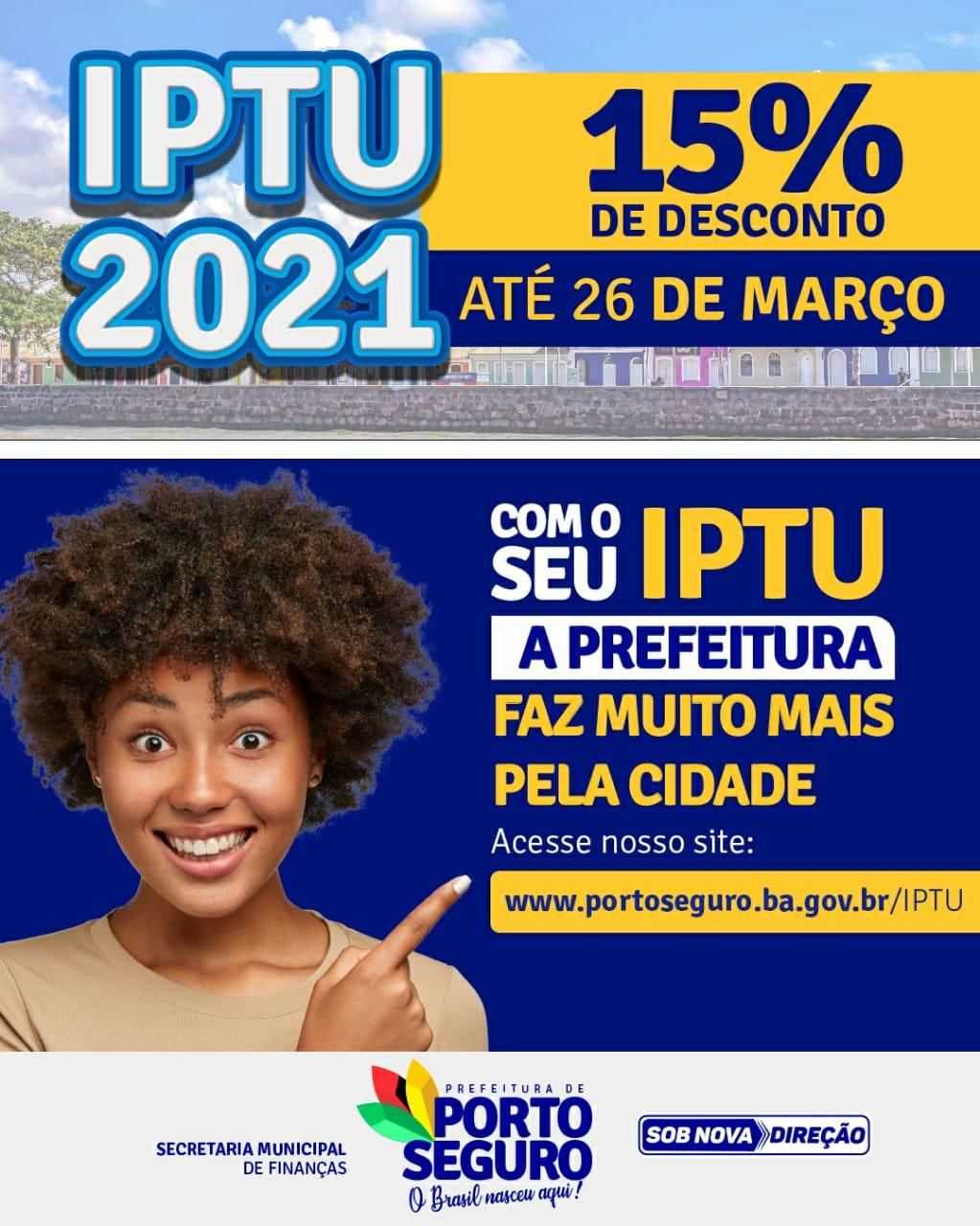 Porto Seguro: Contribuintes já podem pagar IPTU 2021 com desconto 18