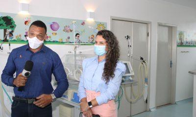 Hospital Regional é tema de entrevista da prefeita de Eunápolis para a TV Record 7