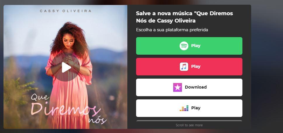 """Cassy Oliveira apresenta o single """"Que Diremos Nós"""" pela Central Gospel Music 21"""