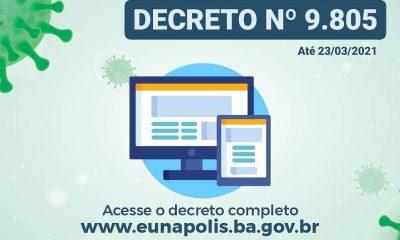 Decreto prorrogado mantém retomada gradativa de atividades econômicas e comerciais, em Eunápolis 36