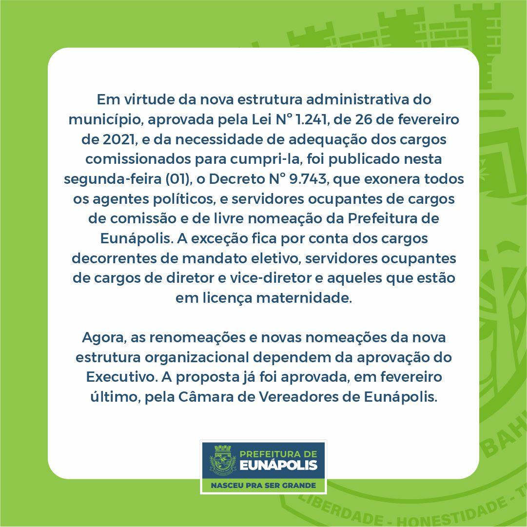 Nova reforma administrativa da Prefeitura de Eunápolis 21
