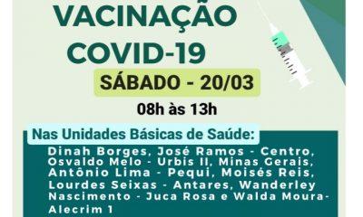 Sábado, 20, é dia de vacinação contra Covid-19 dos idosos acima de 75 anos, em Eunápolis 22