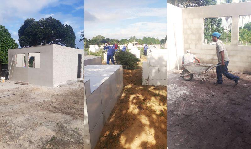 Prefeitura de Eunápolis inicia restauração Cemitério da Saudade, no Sapucaeira 24