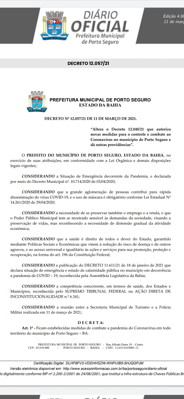 PORTO SEGURO RESPONSÁVEL: PREFEITURA E COMANDO DA PM TRAÇAM MEDIDAS CONJUNTAS PARA PORTO SEGURO 23