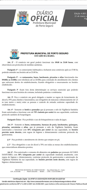 PORTO SEGURO RESPONSÁVEL: PREFEITURA E COMANDO DA PM TRAÇAM MEDIDAS CONJUNTAS PARA PORTO SEGURO 24