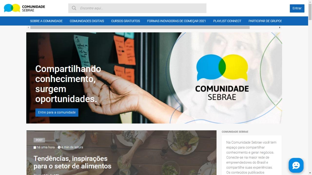 Comunidade Sebrae promove networking entre 150 mil membros 18