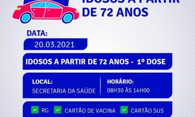 Drive Thru vacinação contra a COVID-19 idosos a partir de 72 anos na Terra Mãe do Brasil 20