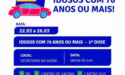 Drive thru vacinação contra Covid-19 idosos a partir de 70 anos na Terra Mãe do Brasil 16