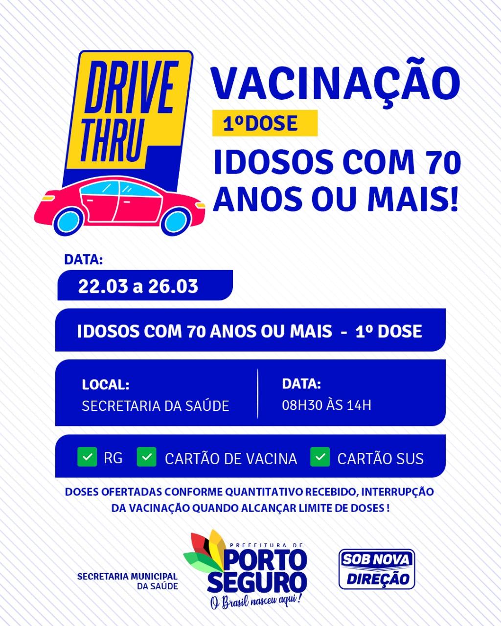 Drive thru vacinação contra Covid-19 idosos a partir de 70 anos na Terra Mãe do Brasil 20