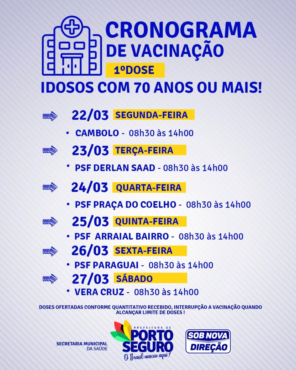 Drive thru vacinação contra Covid-19 idosos a partir de 70 anos na Terra Mãe do Brasil 21