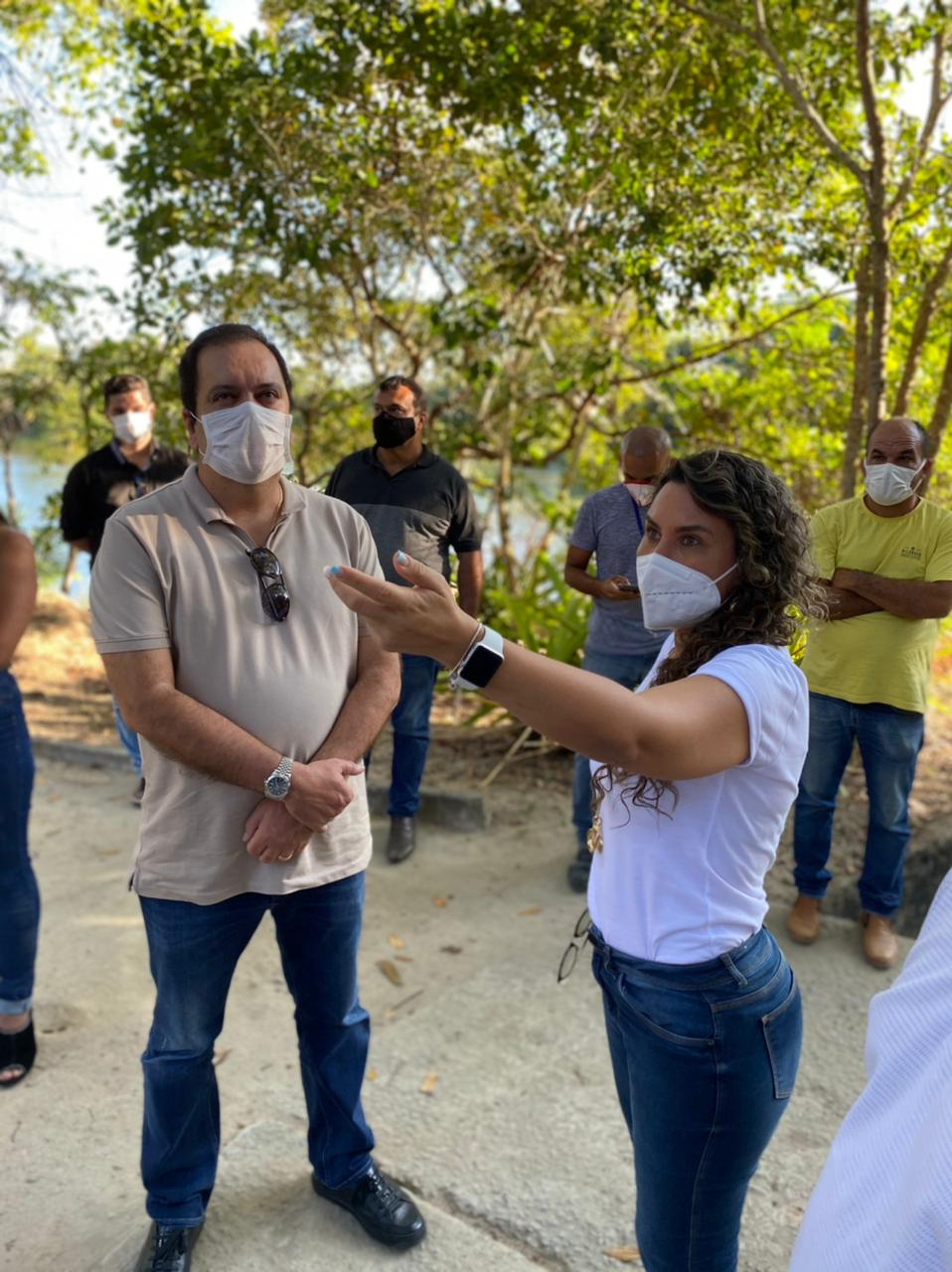 Em Eunápolis, Elmar Nascimento e a Prefeita Cordélia Torres assinam projeto de reurbanização do Parque Ecológico Gravatá. 24