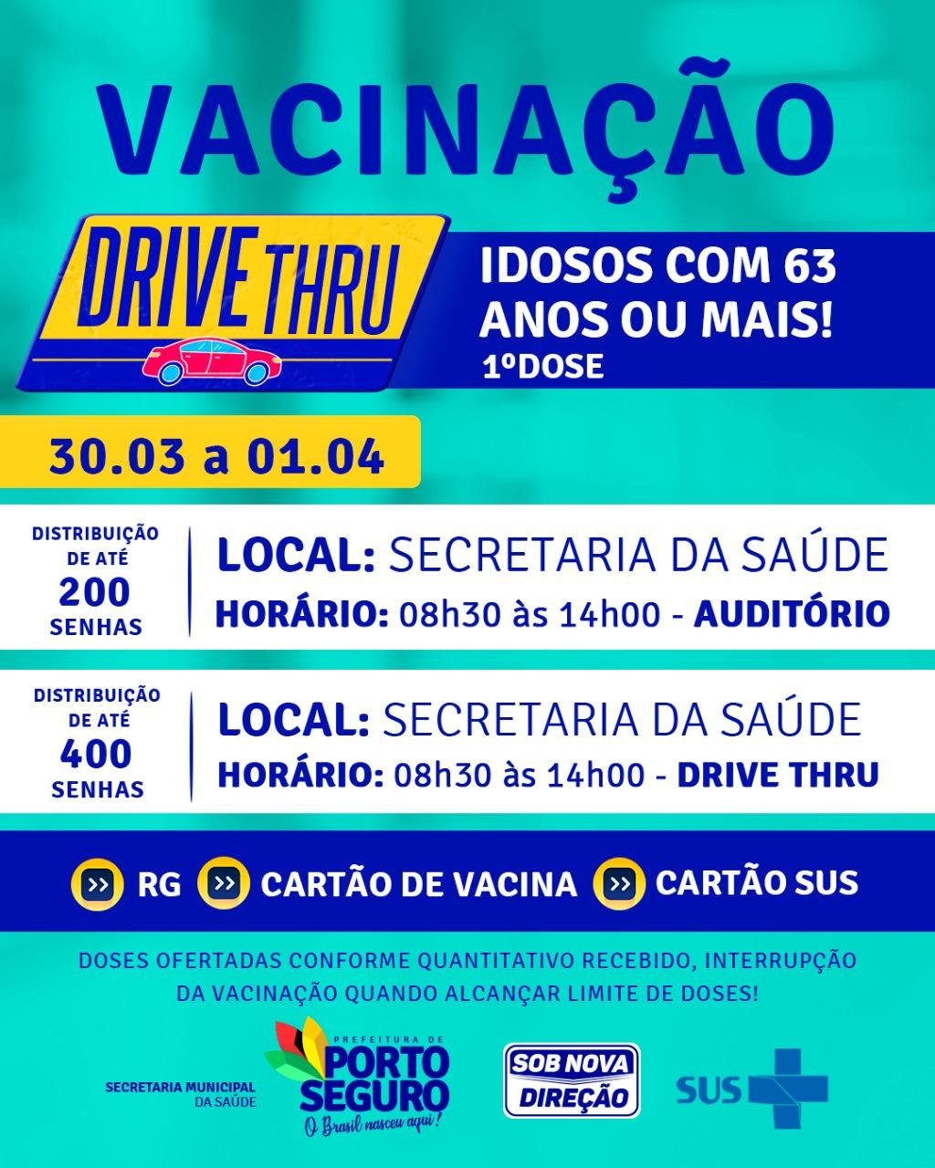 O foco da Terra Mãe do Brasil é vacinar idosos com 63 anos ou mais! 20