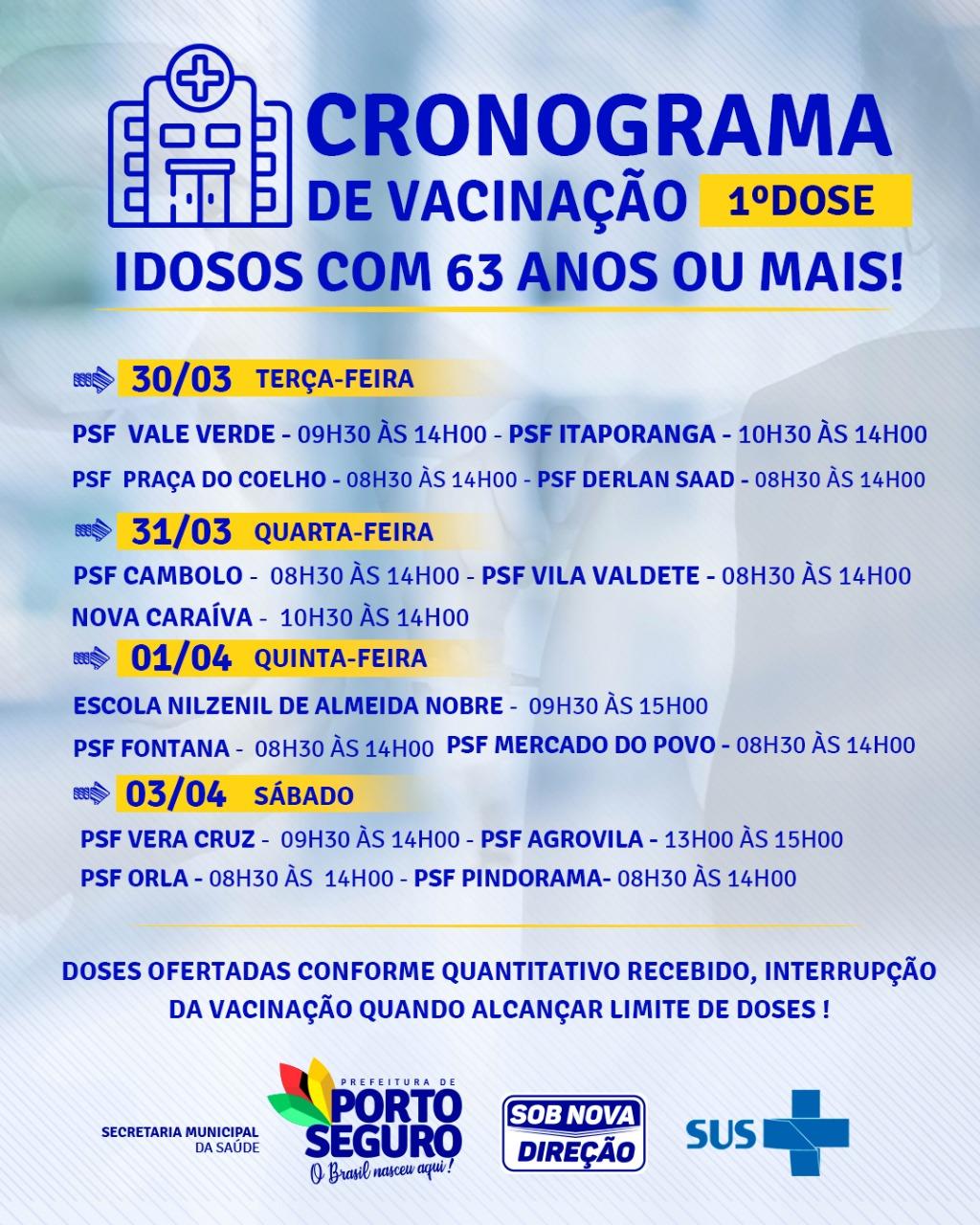 O foco da Terra Mãe do Brasil é vacinar idosos com 63 anos ou mais! 21