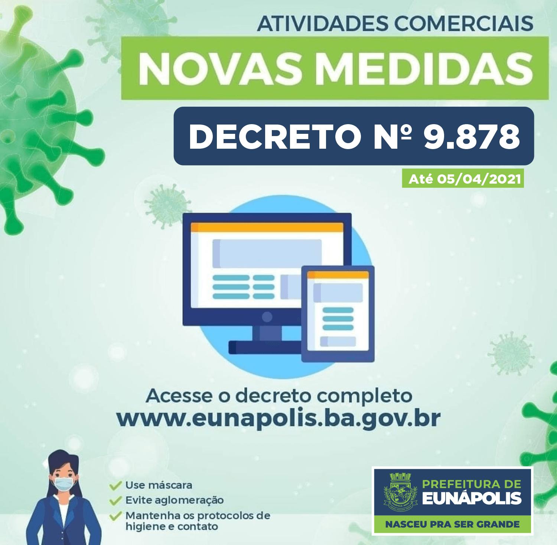 Em Eunápolis, novo decreto mantém medidas e funcionamento de atividades econômicas e comerciais 18