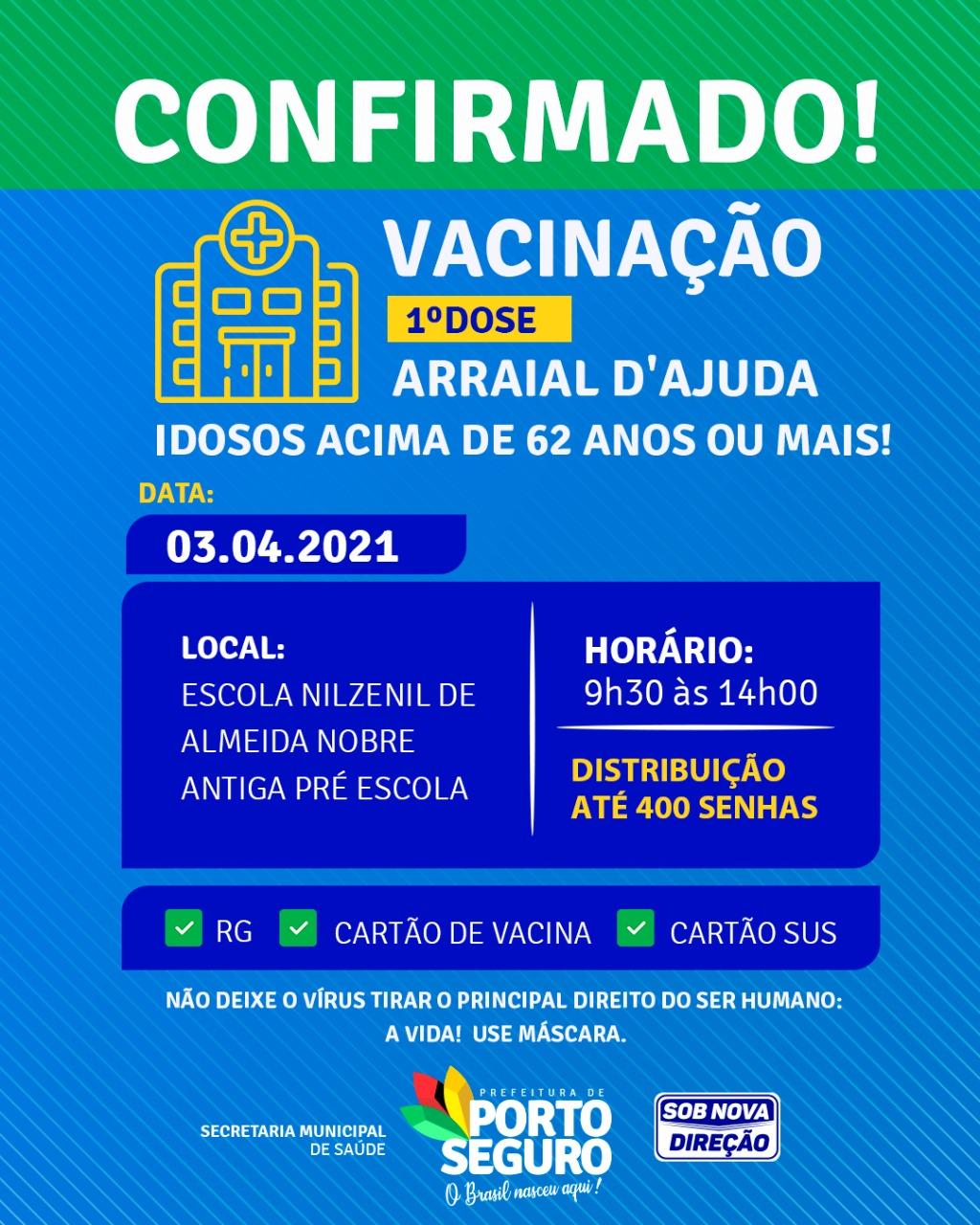 Terra Mãe do Brasil Vacinada - 62 anos ou mais- 23
