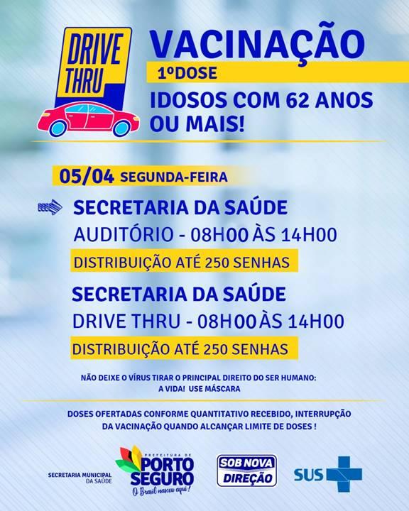 Terra Mãe do Brasil vacinada: agenda de vacinação de idosos com 62 anos ou mais nesta segunda-feira (5) 21