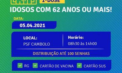 Terra Mãe do Brasil vacinada: agenda de vacinação de idosos com 62 anos ou mais nesta segunda-feira (5) 24