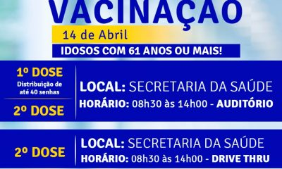 Terra Mãe do Brasil Vacinada: Idosos com 61 anos ou mais 19