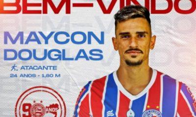 Maycon Douglas, ex-ABC, é anunciado como novo atacante do Bahia 23