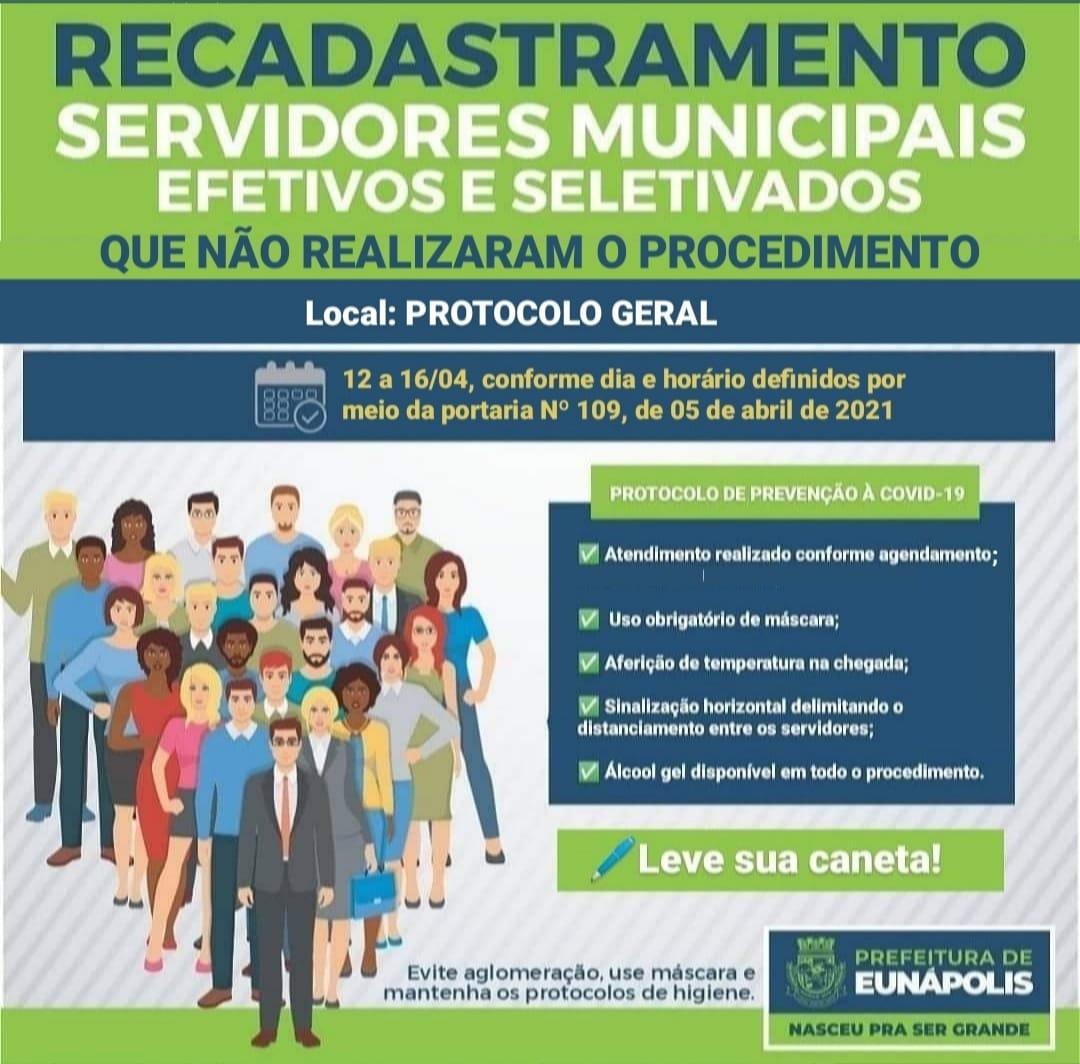 Servidores da Prefeitura de Eunápolis têm nova oportunidade para realizar recadastramento 23