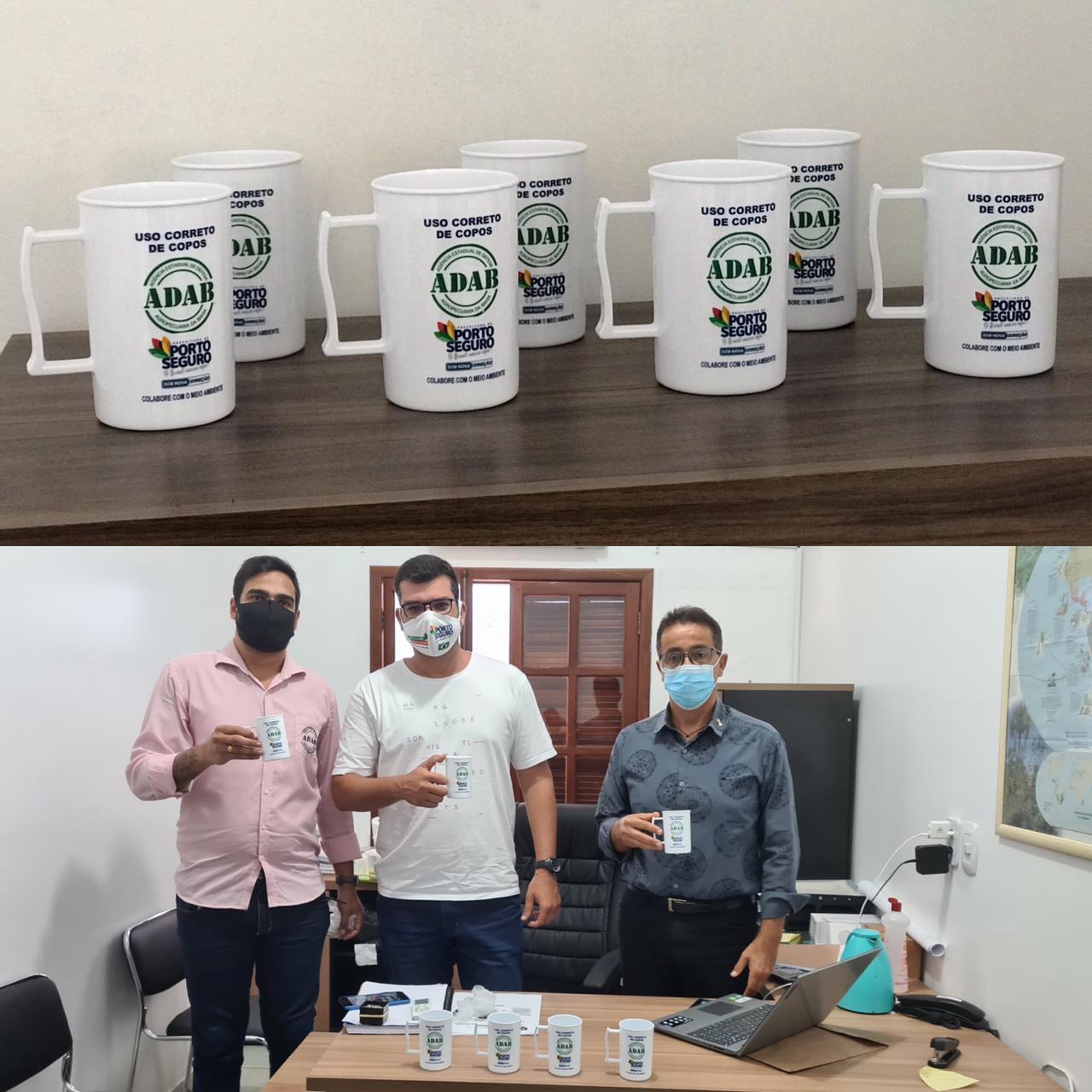 Porto Seguro: Prefeitura e Adab trocam copos descartáveis por canecas ecológicas 18