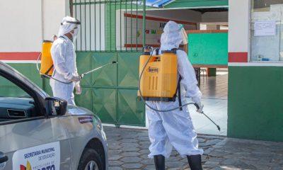 Escolas de Porto Seguro recebem sanitização contra a Covid 39