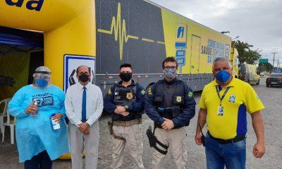 Prefeitura de Eunápolis apoia projeto Saúde nas Estradas 86