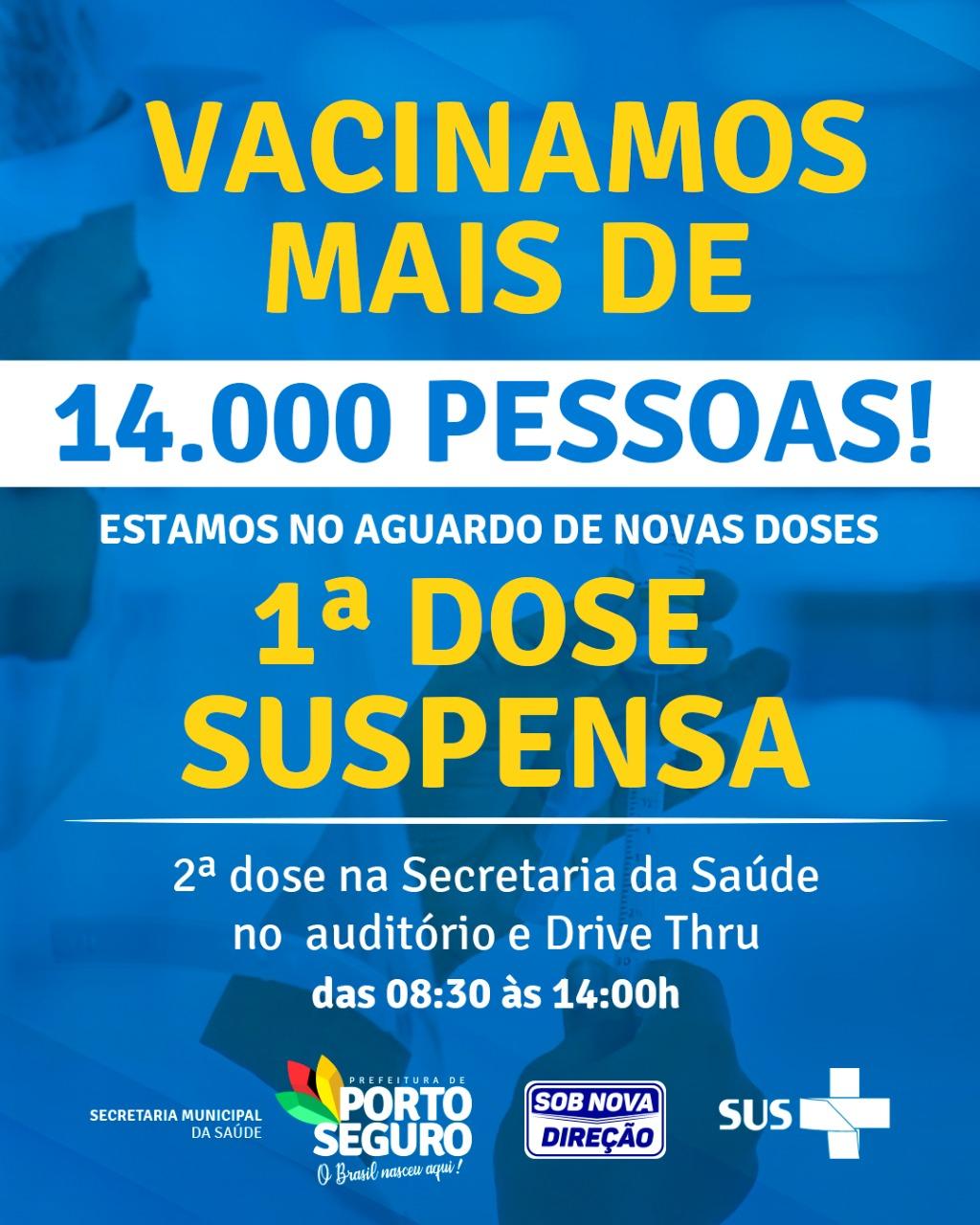 Porto Seguro aguarda novas doses para dar sequência à vacinação contra a Covid-19 23