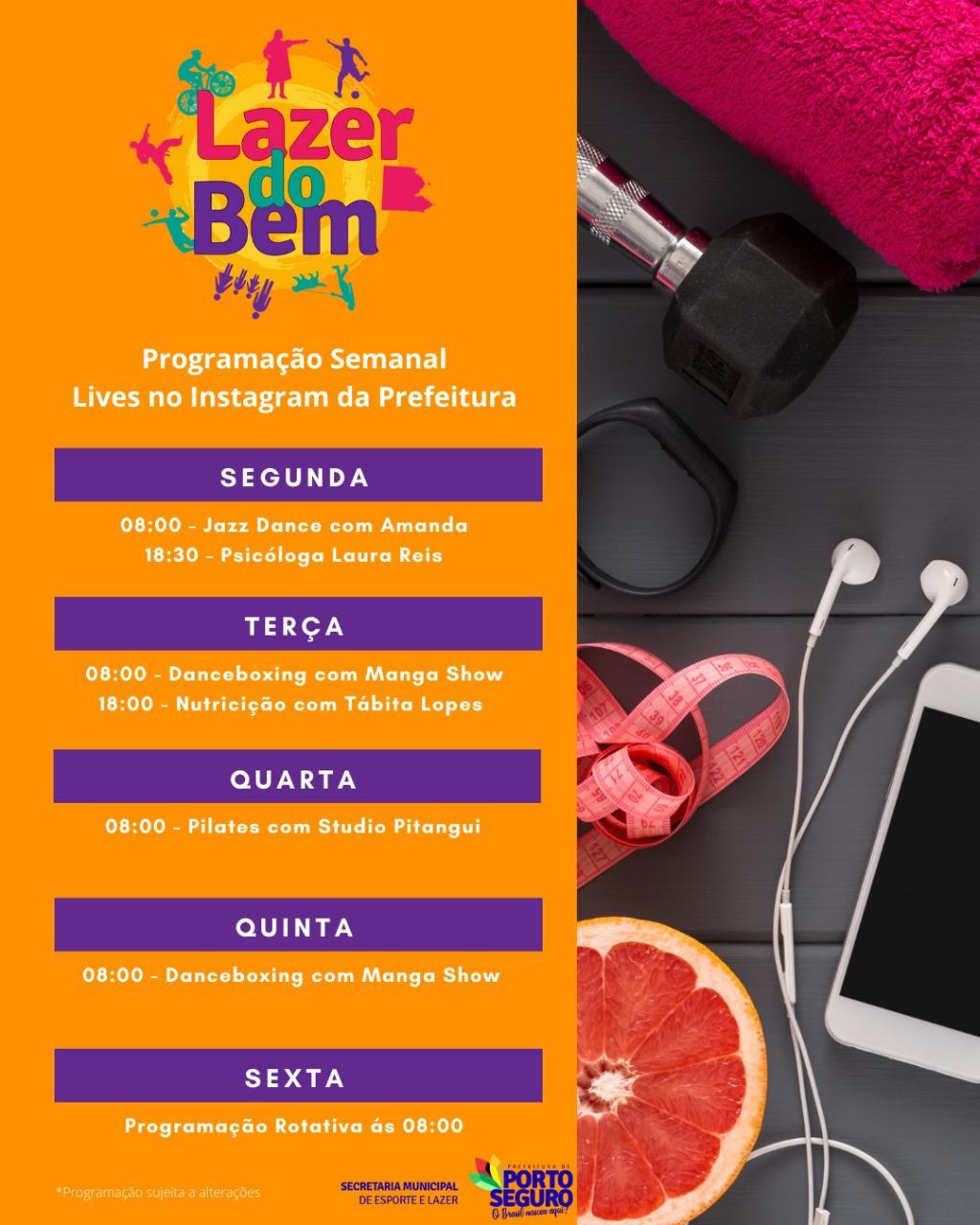 Lazer do Bem inclui dança, pilates, nutrição e psicologia na programação 18