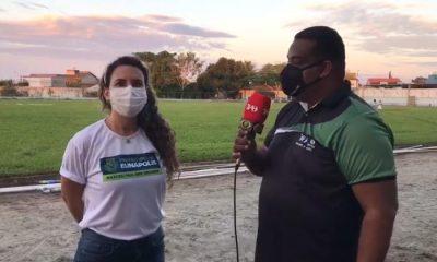 Prefeita Cordélia e secretário de Esportes são destaques em entrevistas para a TVi Band 49