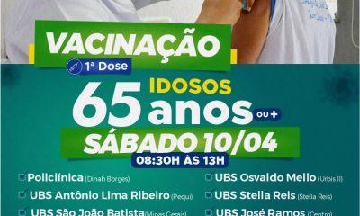 Sábado, dia 10, tem vacinação de idosos acima de 65 anos, em Eunápolis 16