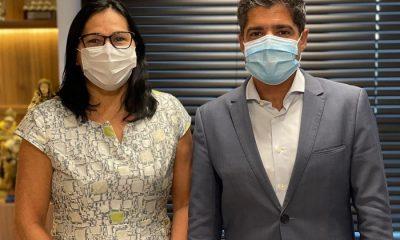 Prefeita Marlene Dantas se reúne com ACM Neto e Sandro Régis na busca de melhorias para Guaratinga 21