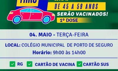 Vacinação contra a COVID-19 Profissionais da Educação Rede pública e privada da Terra Mãe do Brasil 45 a 59 anos 44