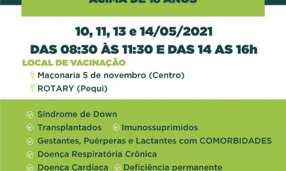 Eunápolis realiza a vacinação de novos grupos contra a Covid-19 18