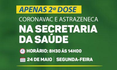 PORTO SEGURO: VACINAÇÃO CONTRA A COVID-19 SEGUNDA DOSE SECRETARIA DE SAÚDE 48