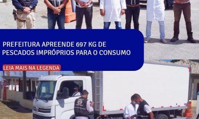 Prefeitura de Porto Seguro apreende 697 kg de pescados impróprios para o consumo 43