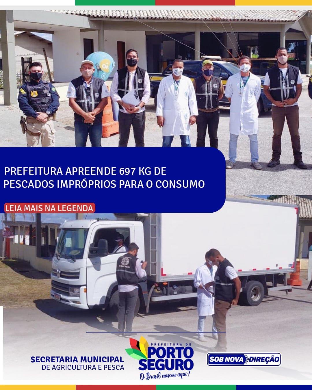 Prefeitura de Porto Seguro apreende 697 kg de pescados impróprios para o consumo 18