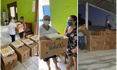 Eunápolis: Empresa entrega cestas básicas para famílias carentes 2