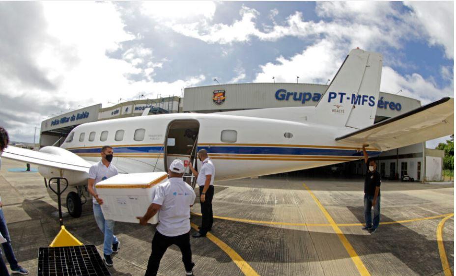 Bahia recebe primeiro lote da Pfizer e mais de 400 mil doses da vacina de Oxford nesta segunda-feira 18