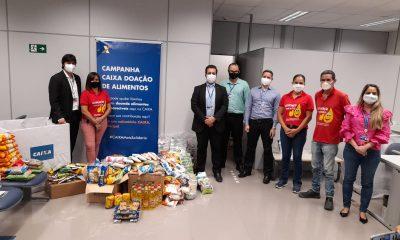 CEF e Pátria Voluntária doam 577 quilos de alimentos 16